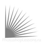 Кисти в виде лучей для Фотошопа - кисть 14