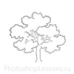 Кисти: силуэты деревьев для Фотошопа - кисть 14