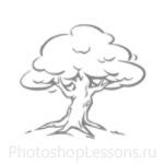 Кисти: силуэты деревьев для Фотошопа - кисть 25