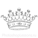 Кисти: короны для Фотошопа - кисть 76