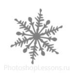 Кисти: снежинки для Фотошопа - кисть 10