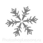 Кисти: снежинки для Фотошопа - кисть 11