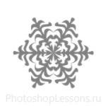 Кисти: снежинки для Фотошопа - кисть 14