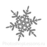 Кисти: снежинки для Фотошопа - кисть 16