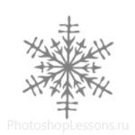 Кисти: снежинки для Фотошопа - кисть 17