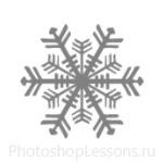 Кисти: снежинки для Фотошопа - кисть 18