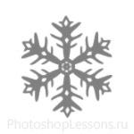 Кисти: снежинки для Фотошопа - кисть 19