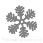 Кисти: снежинки для Фотошопа - кисть 2