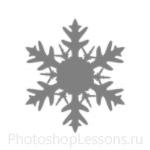 Кисти: снежинки для Фотошопа - кисть 20