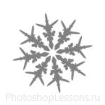 Кисти: снежинки для Фотошопа - кисть 21