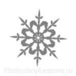 Кисти: снежинки для Фотошопа - кисть 22