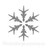 Кисти: снежинки для Фотошопа - кисть 23