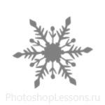 Кисти: снежинки для Фотошопа - кисть 24