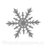 Кисти: снежинки для Фотошопа - кисть 25