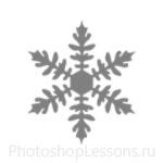 Кисти: снежинки для Фотошопа - кисть 26