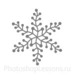 Кисти: снежинки для Фотошопа - кисть 27