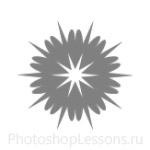 Кисти: снежинки для Фотошопа - кисть 29