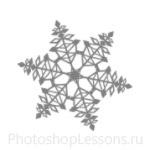 Кисти: снежинки для Фотошопа - кисть 30