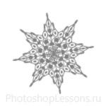 Кисти: снежинки для Фотошопа - кисть 31