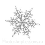 Кисти: снежинки для Фотошопа - кисть 33