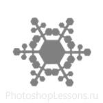 Кисти: снежинки для Фотошопа - кисть 34