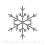 Кисти: снежинки для Фотошопа - кисть 35