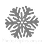 Кисти: снежинки для Фотошопа - кисть 4