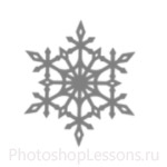 Кисти: снежинки для Фотошопа - кисть 40