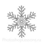 Кисти: снежинки для Фотошопа - кисть 43