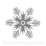 Кисти: снежинки для Фотошопа - кисть 44