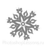 Кисти: снежинки для Фотошопа - кисть 46