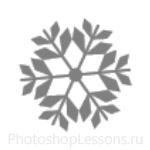 Кисти: снежинки для Фотошопа - кисть 47