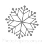 Кисти: снежинки для Фотошопа - кисть 48