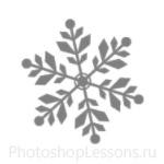 Кисти: снежинки для Фотошопа - кисть 49
