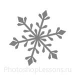Кисти: снежинки для Фотошопа - кисть 5