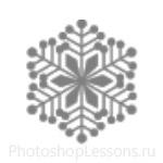 Кисти: снежинки для Фотошопа - кисть 50