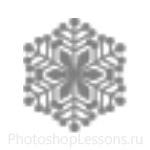 Кисти: снежинки для Фотошопа - кисть 52