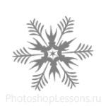 Кисти: снежинки для Фотошопа - кисть 54
