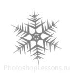 Кисти: снежинки для Фотошопа - кисть 55