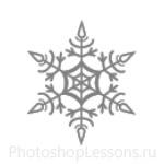 Кисти: снежинки для Фотошопа - кисть 56