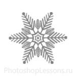 Кисти: снежинки для Фотошопа - кисть 57