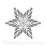 Кисти: снежинки для Фотошопа - кисть 58
