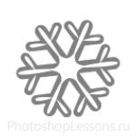 Кисти: снежинки для Фотошопа - кисть 6