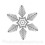 Кисти: снежинки для Фотошопа - кисть 61