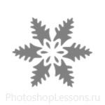 Кисти: снежинки для Фотошопа - кисть 7