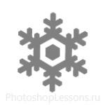 Кисти: снежинки для Фотошопа - кисть 8