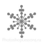 Кисти: снежинки для Фотошопа - кисть 9