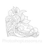 Кисти: цветочные орнаменты для Фотошопа - кисть 12