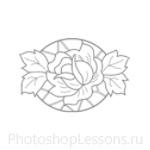 Кисти: цветочные орнаменты для Фотошопа - кисть 15