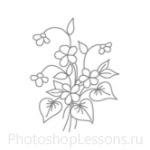 Кисти: цветочные орнаменты для Фотошопа - кисть 17